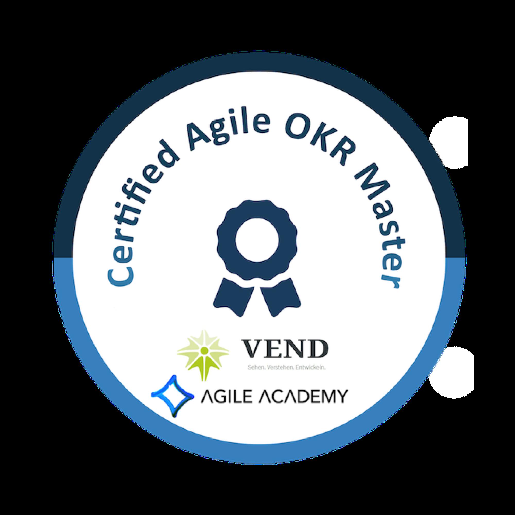 certified agile OKR Master